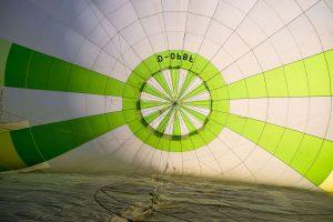Unser Heißluftballon von Innen!